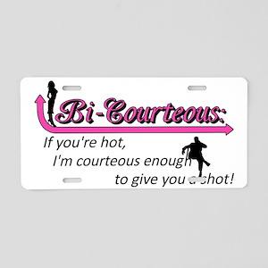 Courteous [Converted] Aluminum License Plate